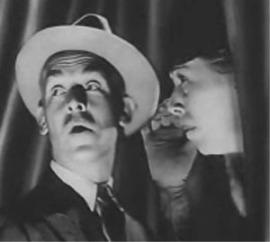 "James Gleason & Edna May Oliver's promo shot for ""Penguin PoolMurder"""
